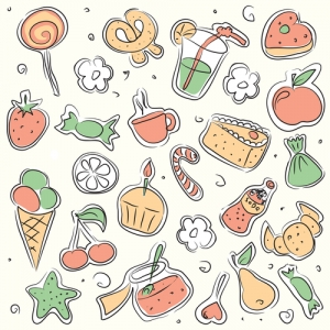 Set-of-illustrations-of-sweet-food-and-drinks-300x300 A Guide on Oral Health for Children