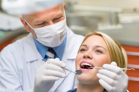 Healthy-teeth-patient-at-dentist-office Things You Need to Know About Composite Resin Dental Fillings